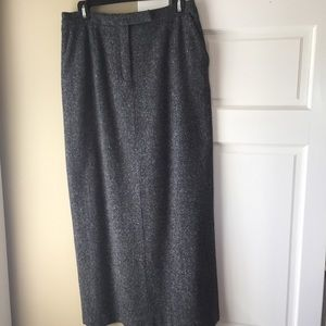 Vintage tweed maxi skirt